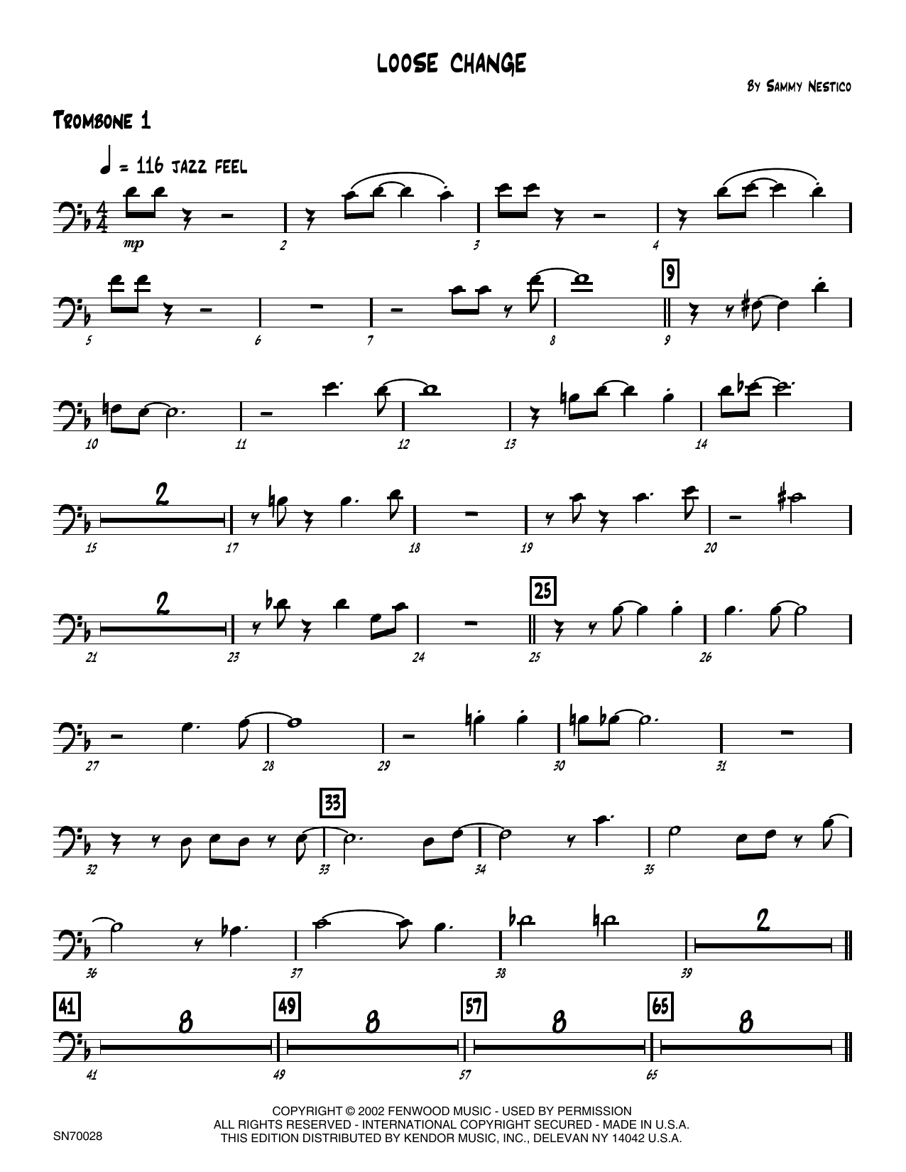 Loose Change - 1st Trombone Sheet Music