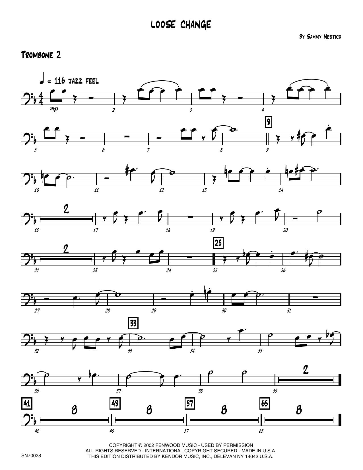 Loose Change - 2nd Trombone Sheet Music