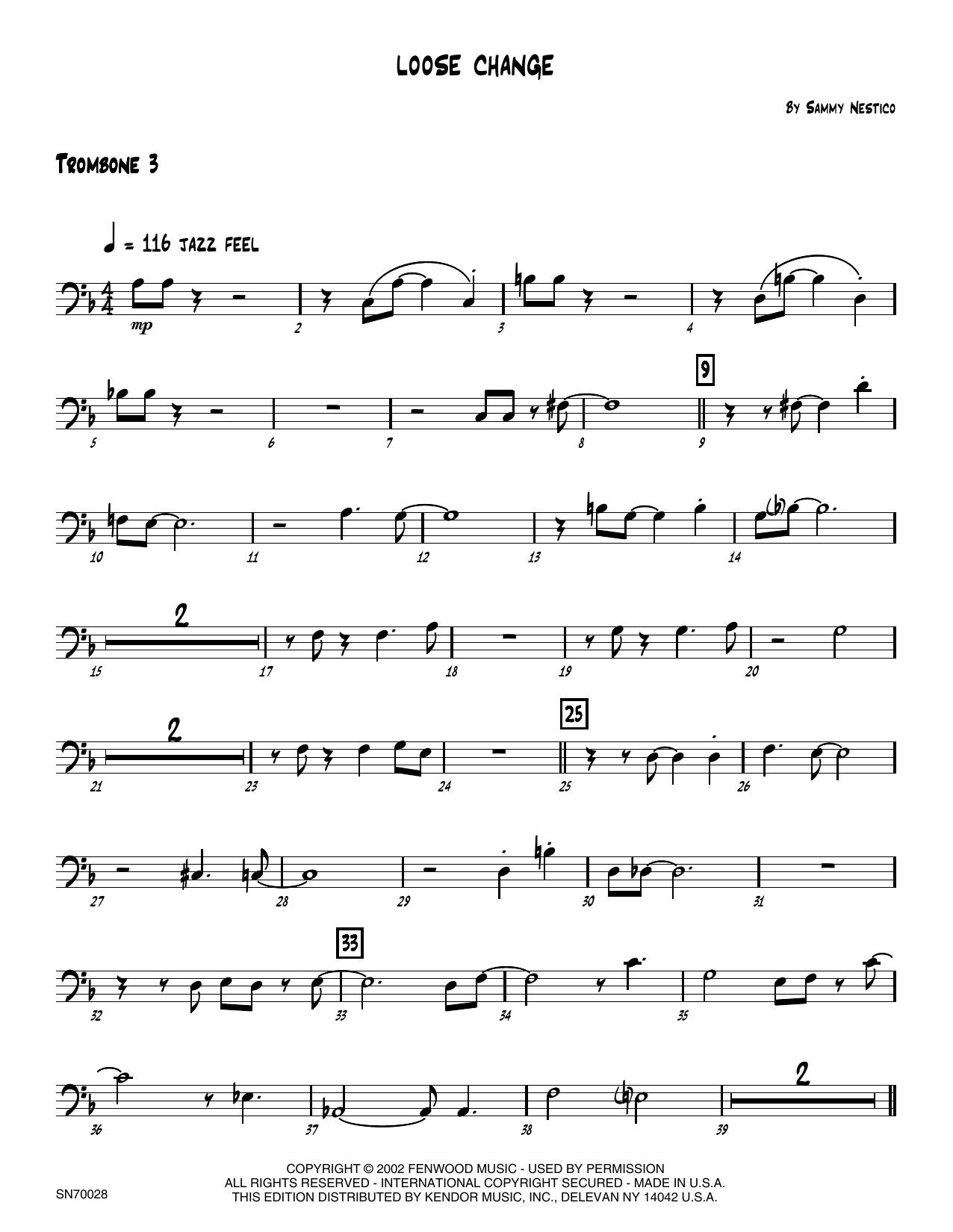 Loose Change - 3rd Trombone Sheet Music