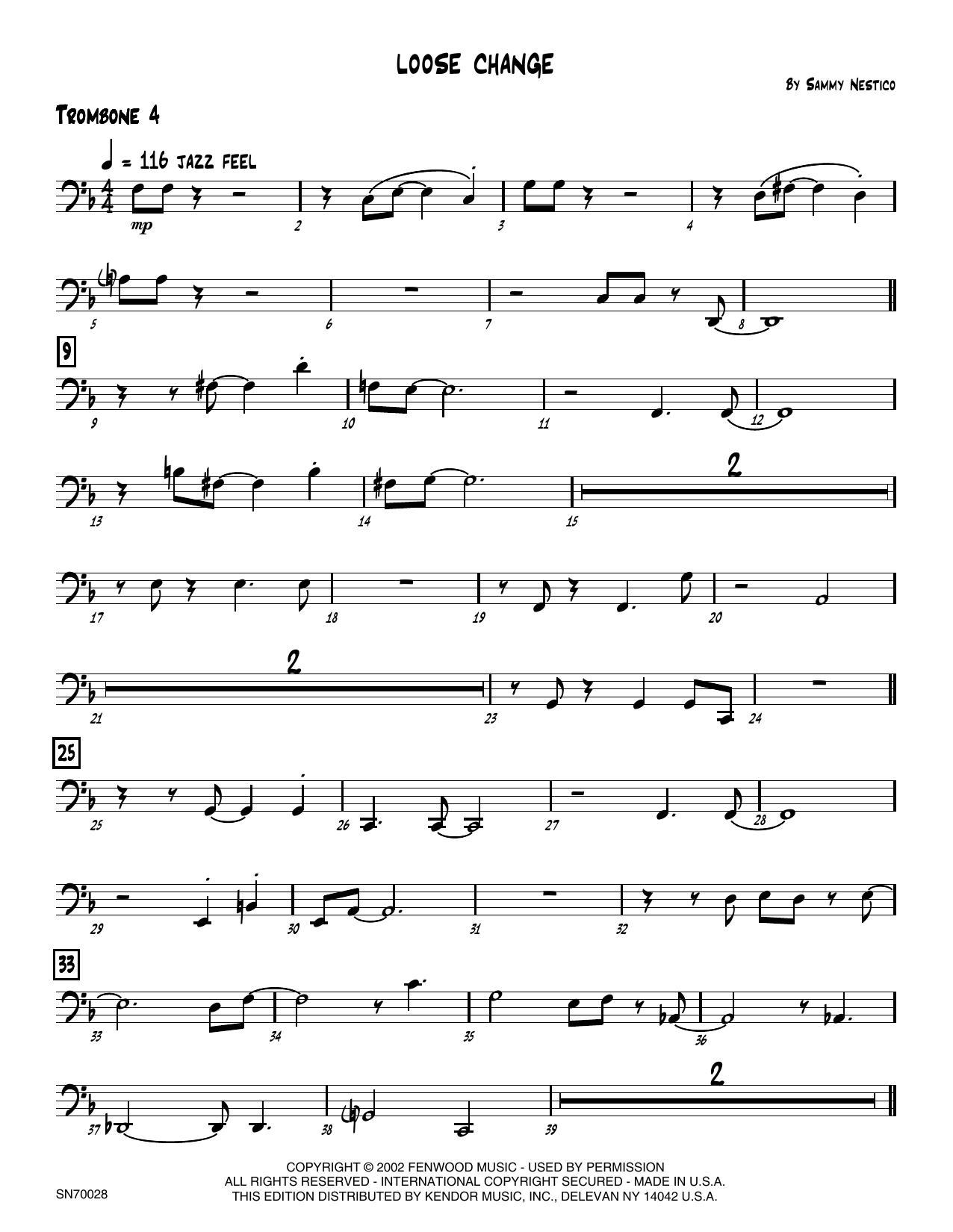 Loose Change - 4th Trombone Sheet Music