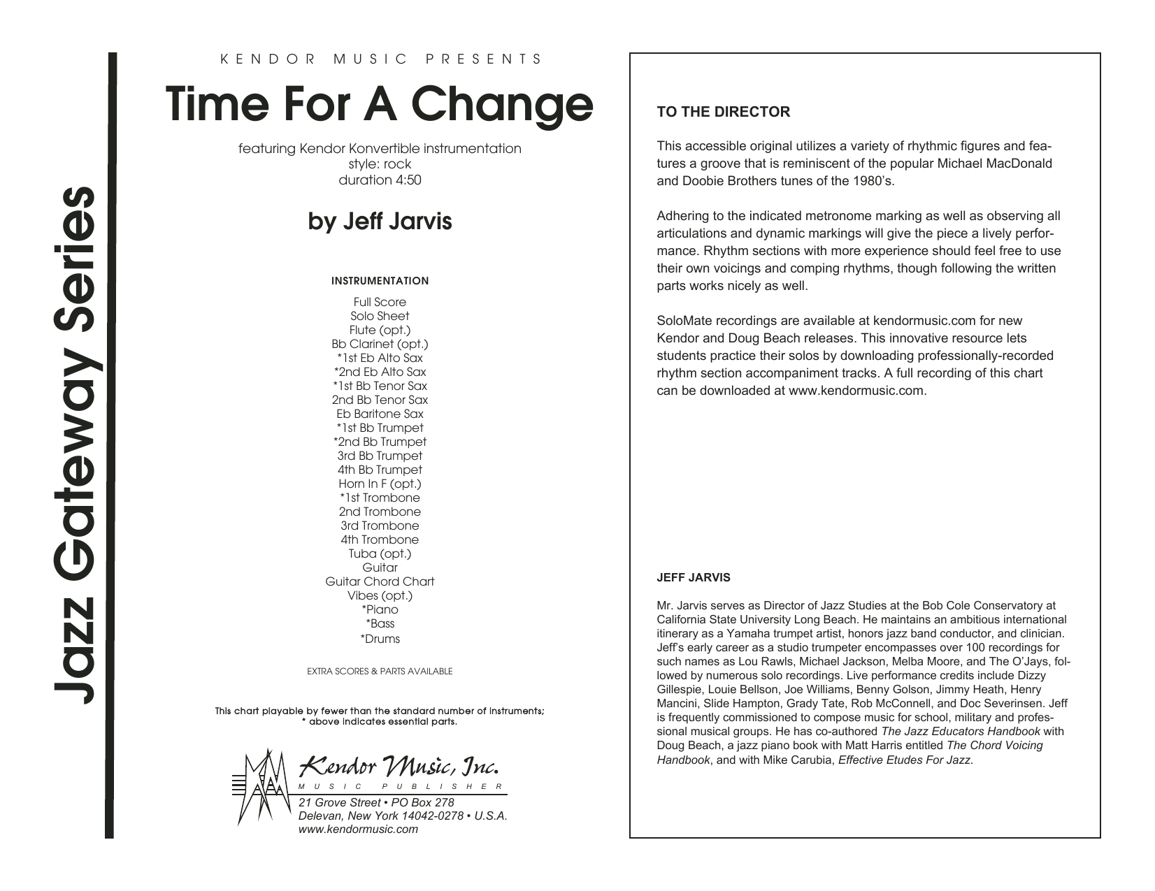 Time For A Change (COMPLETE) sheet music for jazz band by Jeff Jarvis. Score Image Preview.