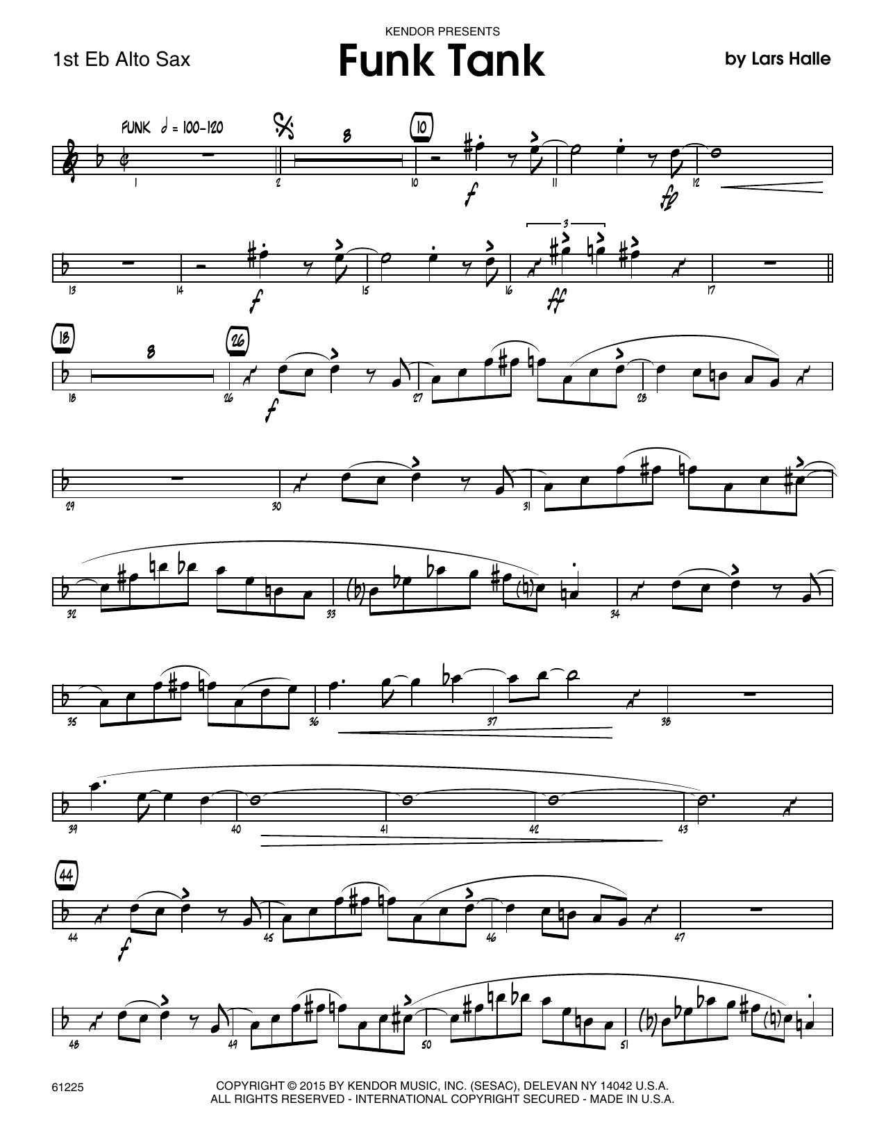 Funk Tank - 1st Eb Alto Saxophone Sheet Music