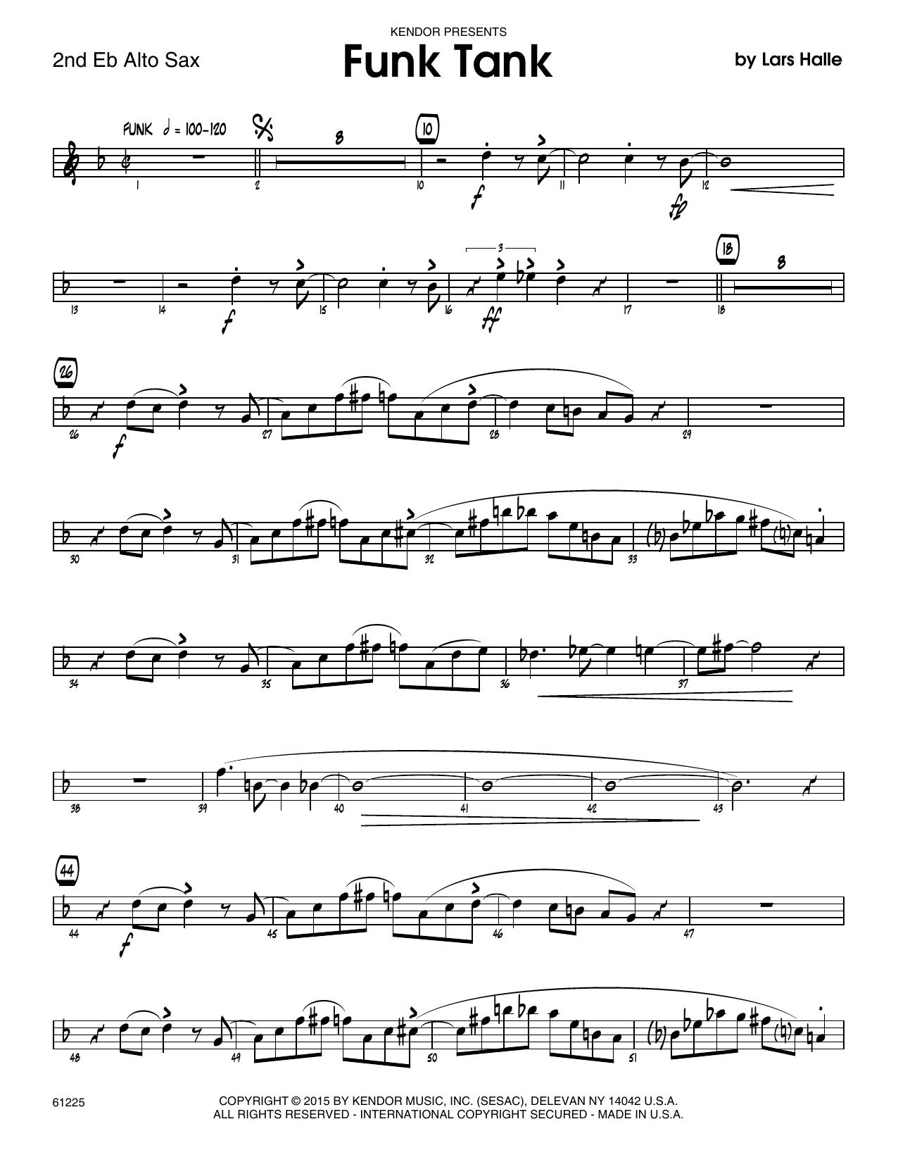 Funk Tank - 2nd Eb Alto Saxophone Sheet Music