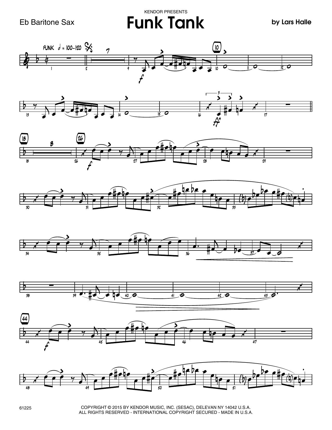 Funk Tank - Eb Baritone Saxophone Sheet Music