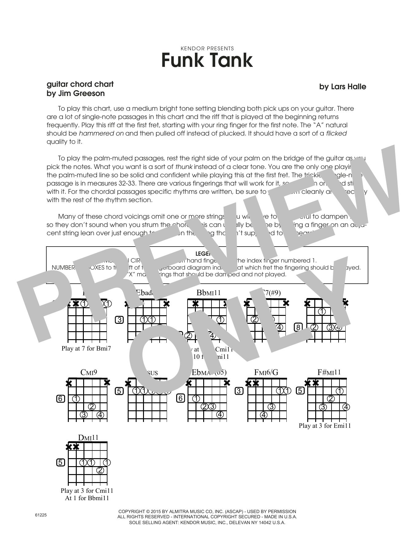 Funk Tank - Guitar Chord Chart Sheet Music