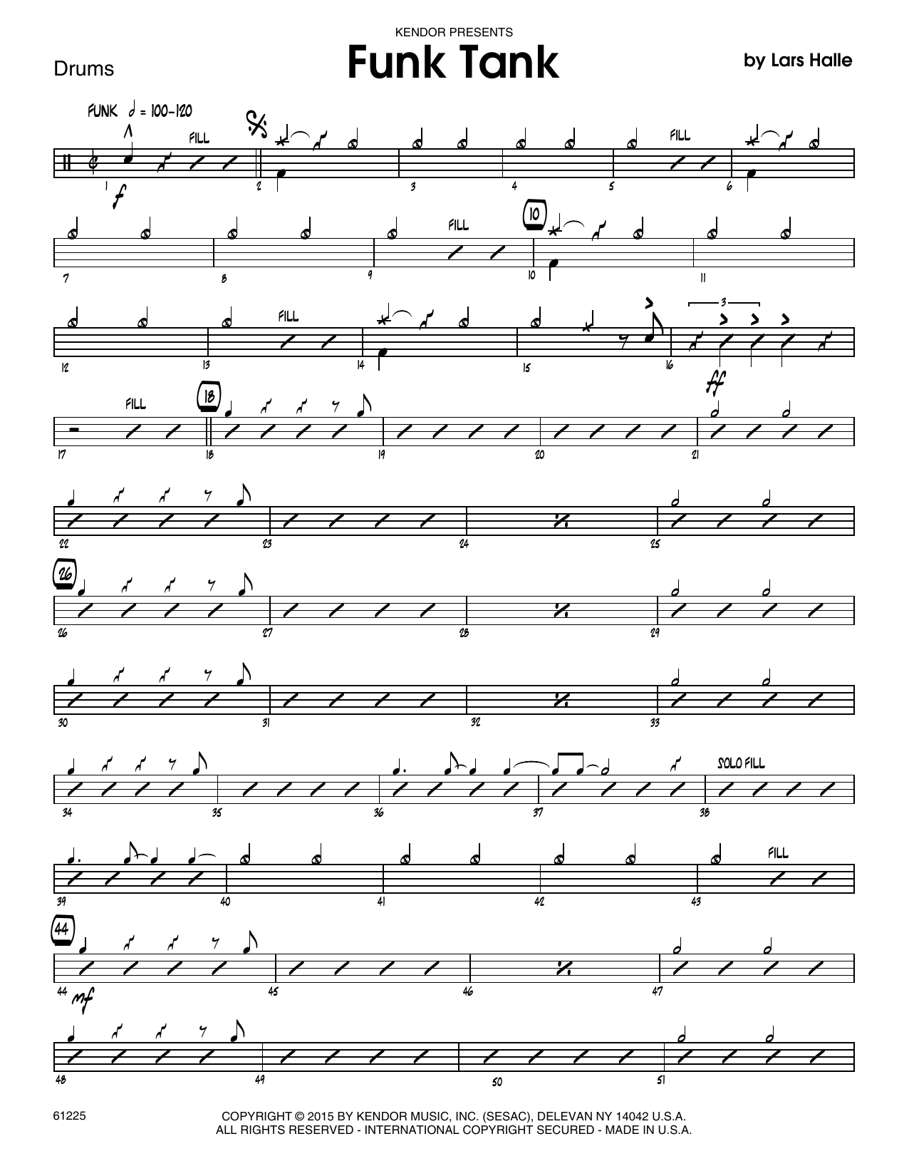 Funk Tank - Drum Set Sheet Music
