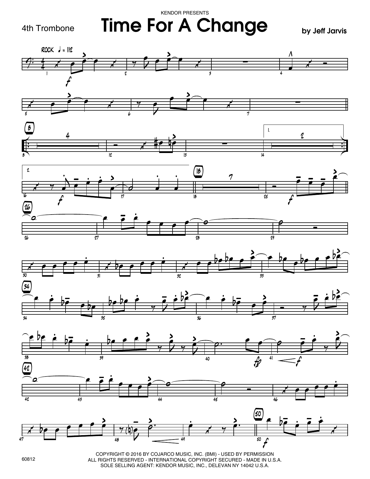 Time For A Change - 4th Trombone Sheet Music