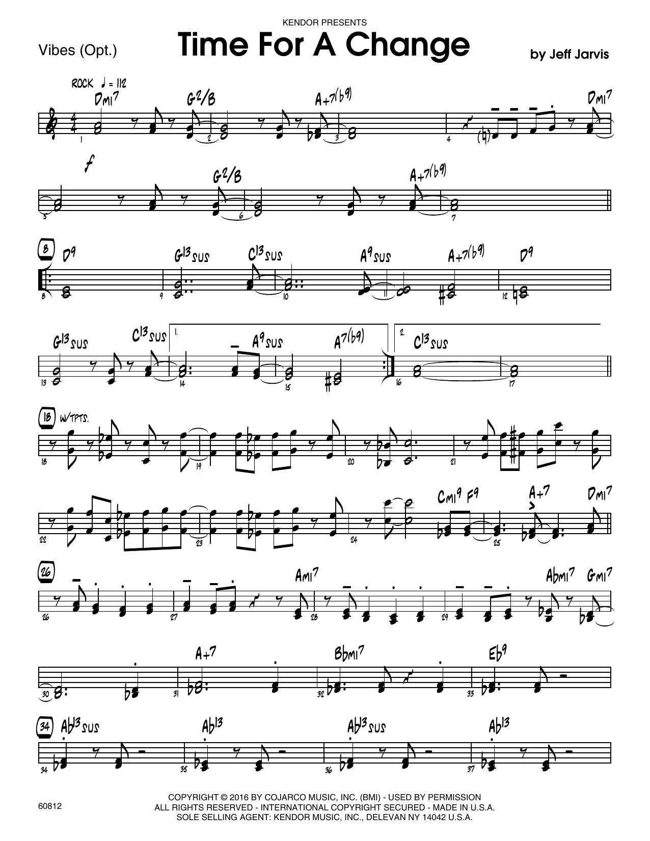 Time For A Change - Vibes Sheet Music