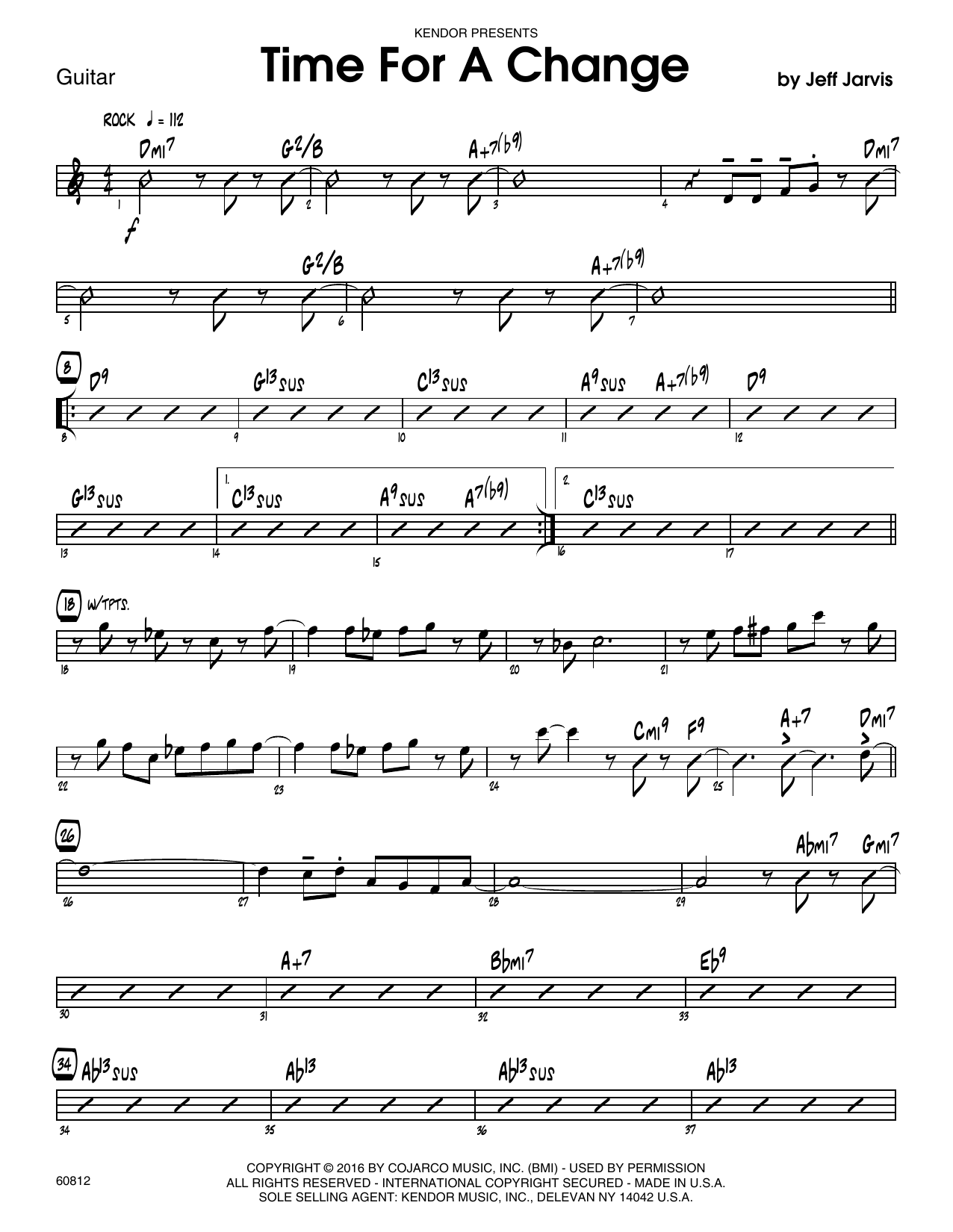 Time For A Change - Guitar Sheet Music