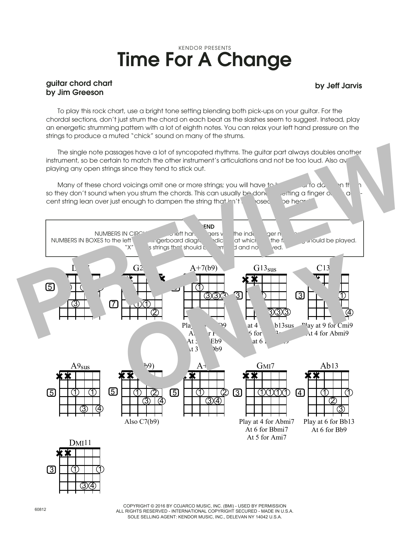 Time For A Change - Guitar Chord Chart Sheet Music