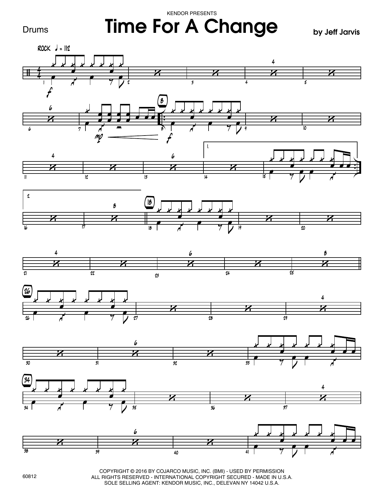 Time For A Change - Drum Set Sheet Music