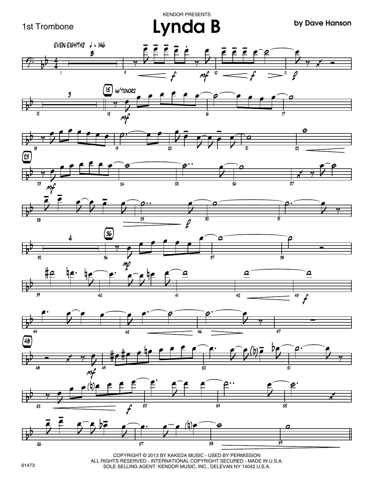 Lynda B - 1st Trombone Sheet Music