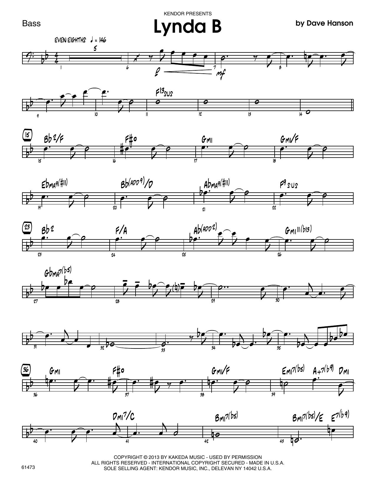 Lynda B - Bass Sheet Music