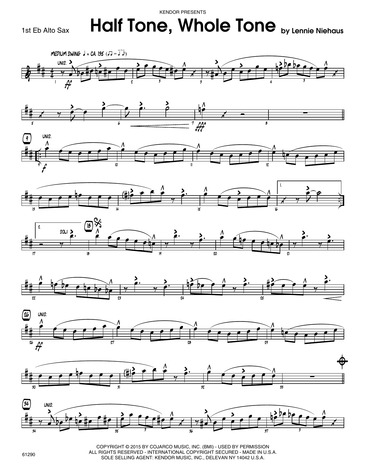 Half Tone, Whole Tone - 1st Eb Alto Saxophone Sheet Music