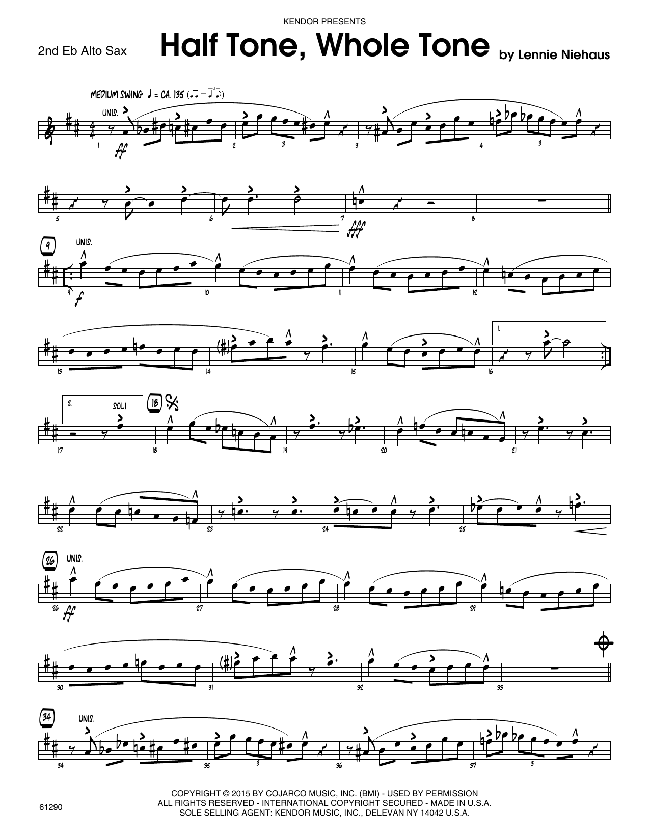 Half Tone, Whole Tone - 2nd Eb Alto Saxophone Sheet Music