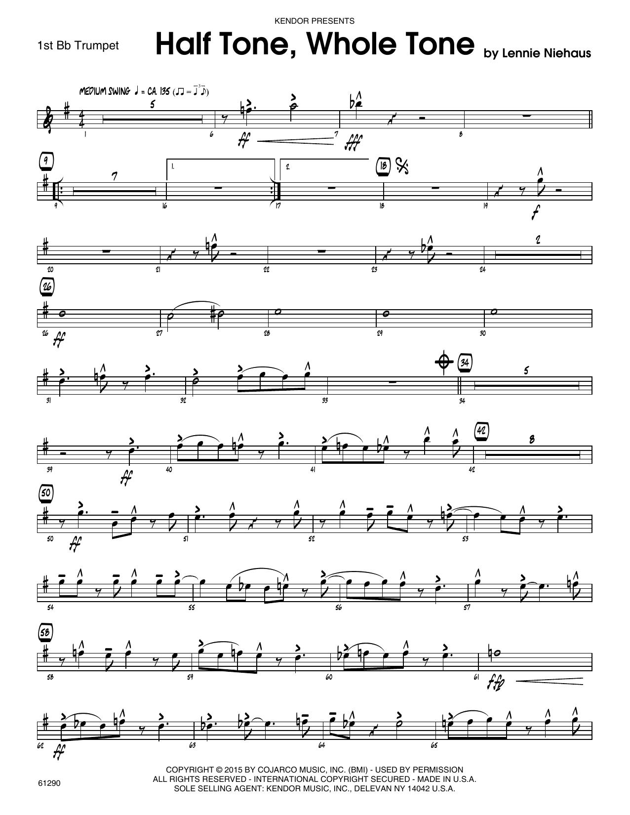 Half Tone, Whole Tone - 1st Bb Trumpet Sheet Music