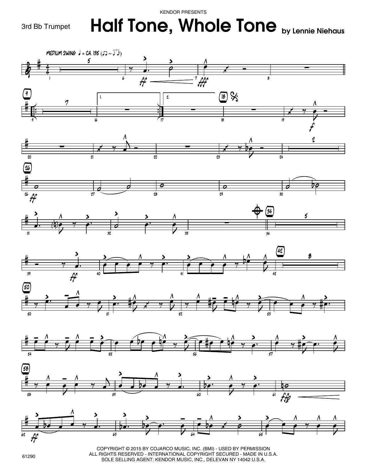 Half Tone, Whole Tone - 3rd Bb Trumpet Sheet Music