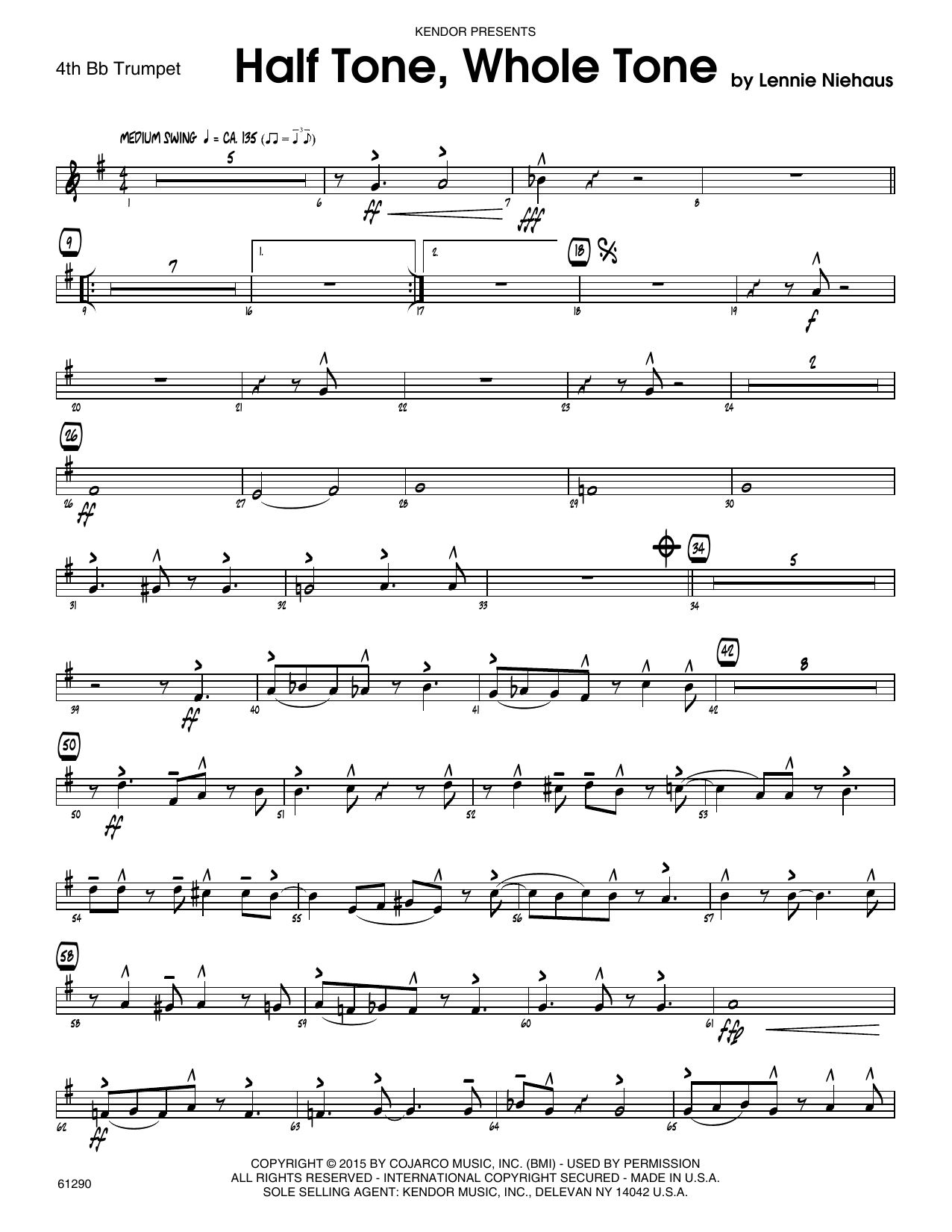 Half Tone, Whole Tone - 4th Bb Trumpet Sheet Music