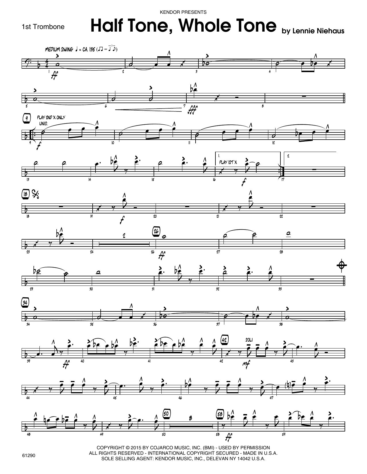 Half Tone, Whole Tone - 1st Trombone Sheet Music