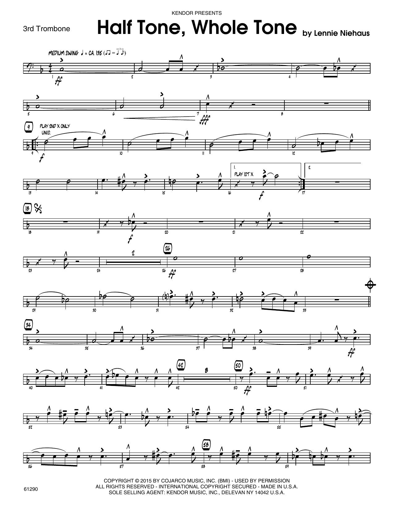 Half Tone, Whole Tone - 3rd Trombone Sheet Music