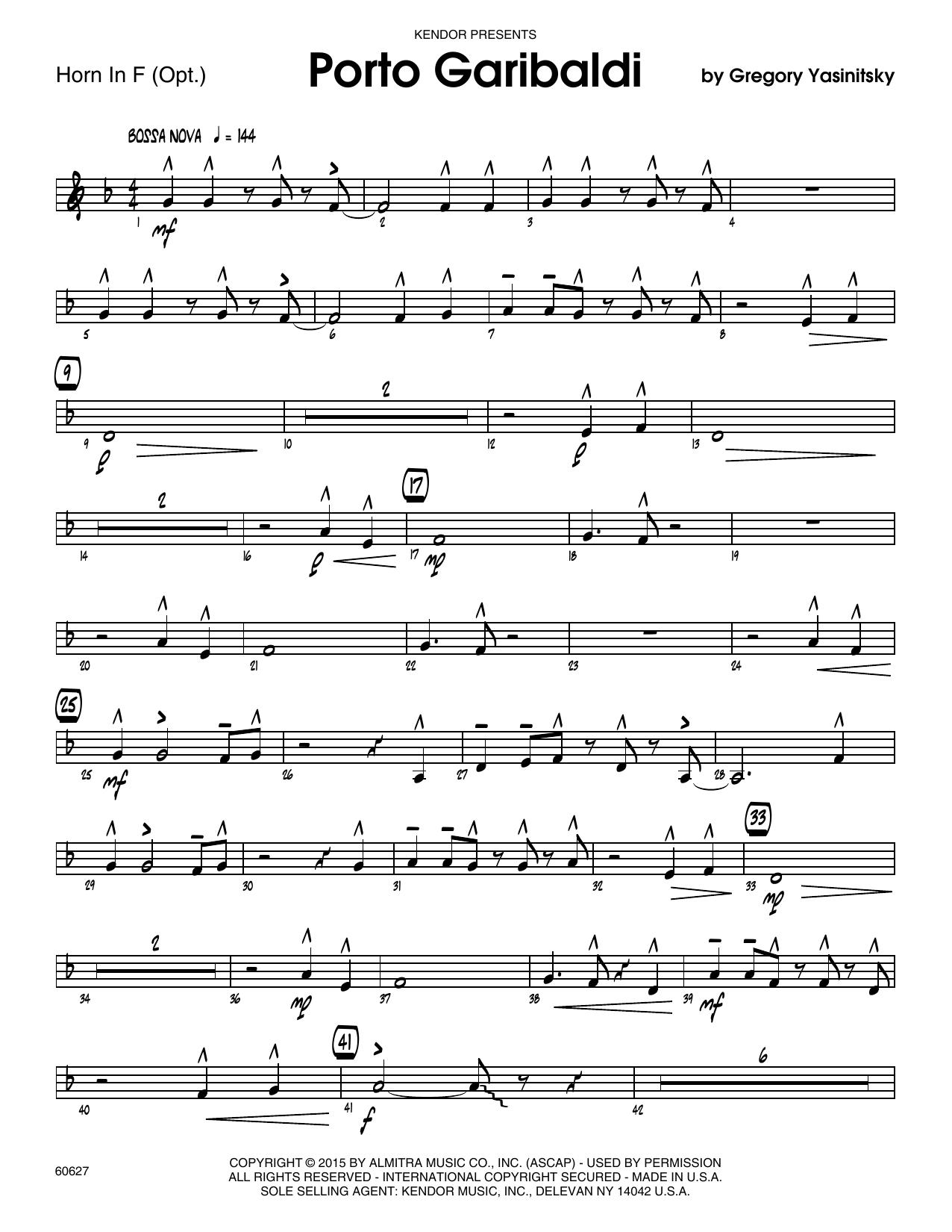 Porto Garibaldi - Horn in F Sheet Music
