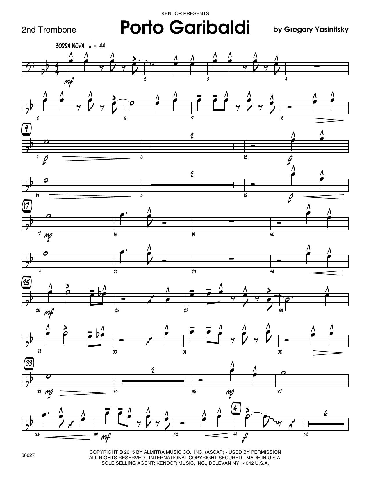 Porto Garibaldi - 2nd Trombone Sheet Music