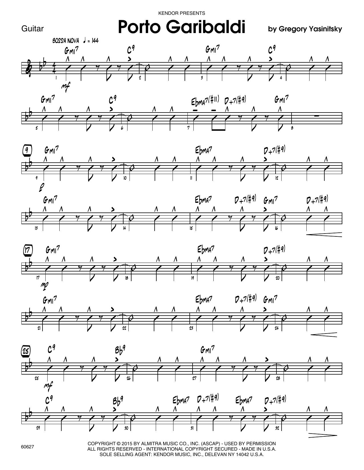 Porto Garibaldi - Guitar Sheet Music