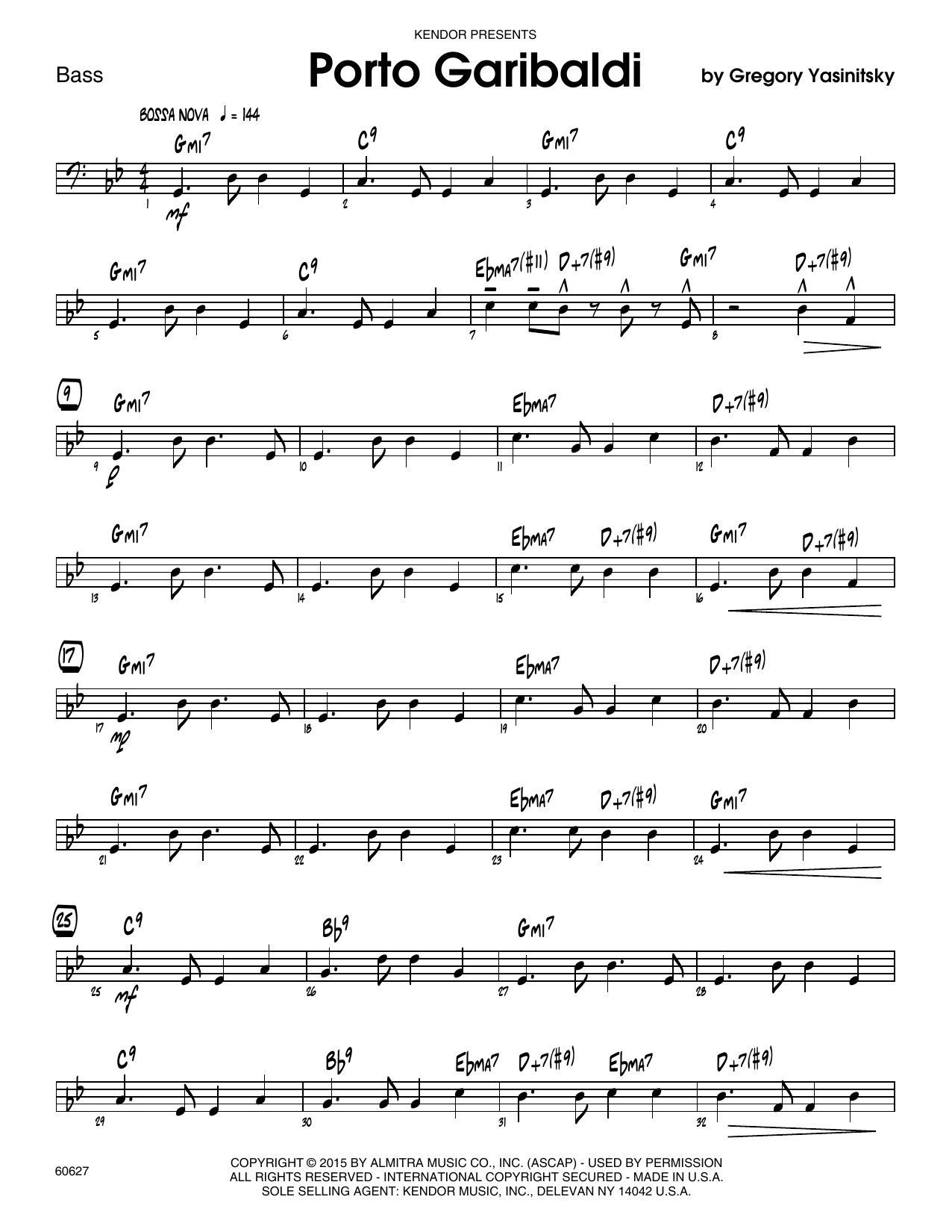 Porto Garibaldi - Bass Sheet Music