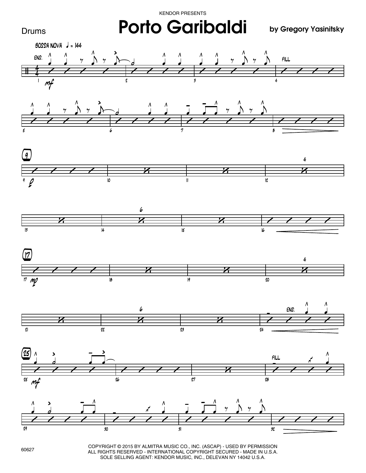 Porto Garibaldi - Drum Set Sheet Music