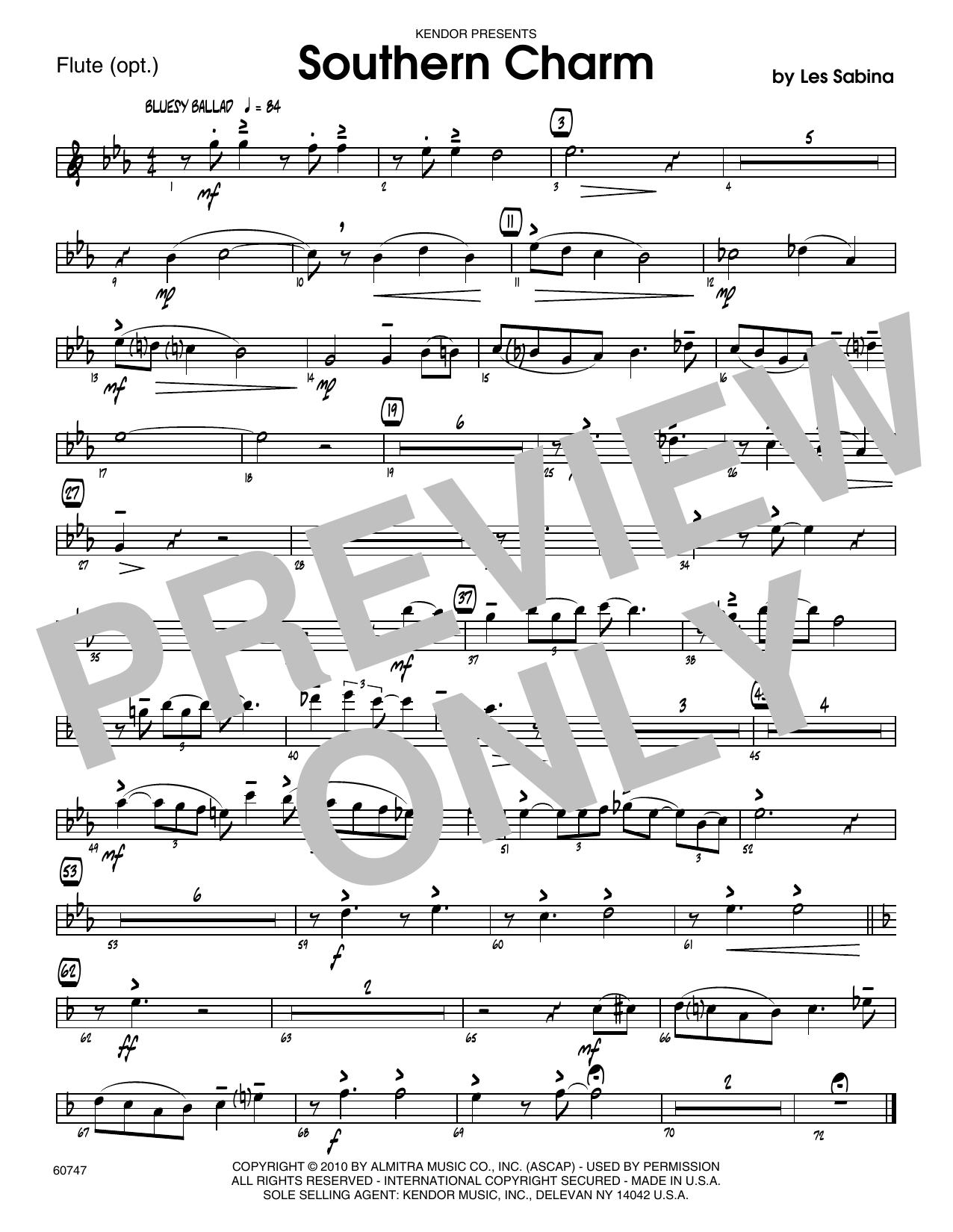 Southern Charm - Flute Sheet Music
