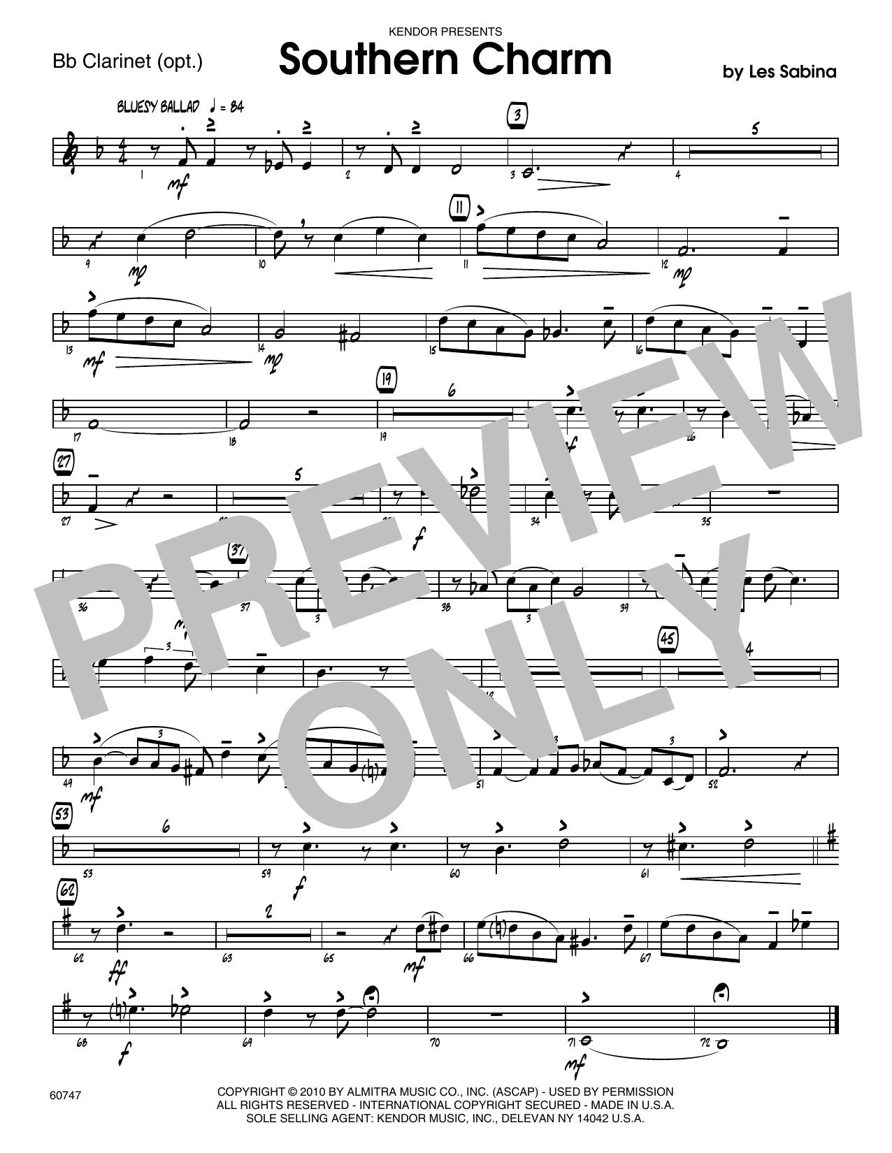 Southern Charm - Bb Clarinet Sheet Music