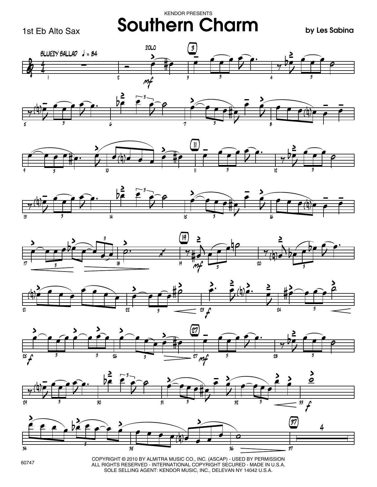 Southern Charm - 1st Eb Alto Saxophone Sheet Music