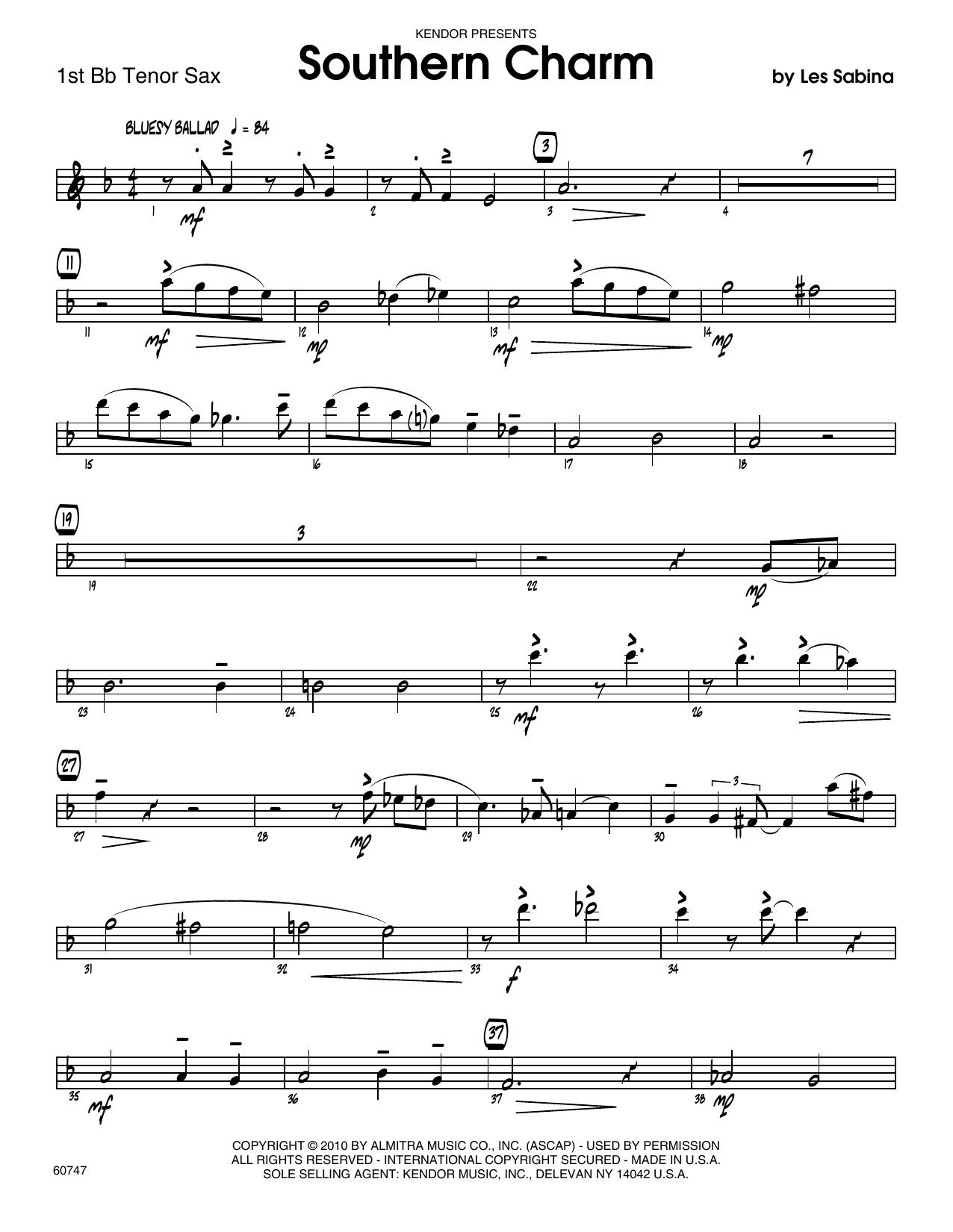 Southern Charm - 1st Tenor Saxophone Sheet Music
