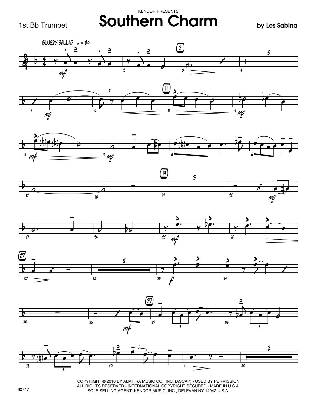 Southern Charm - 1st Bb Trumpet Sheet Music