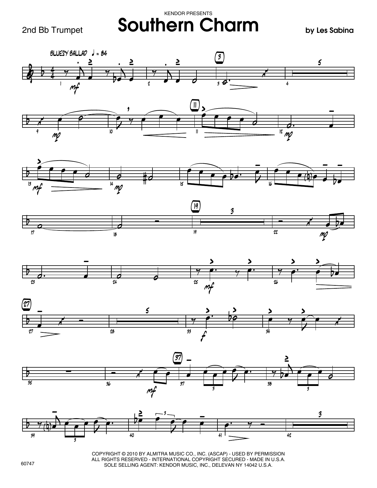 Southern Charm - 2nd Bb Trumpet Sheet Music