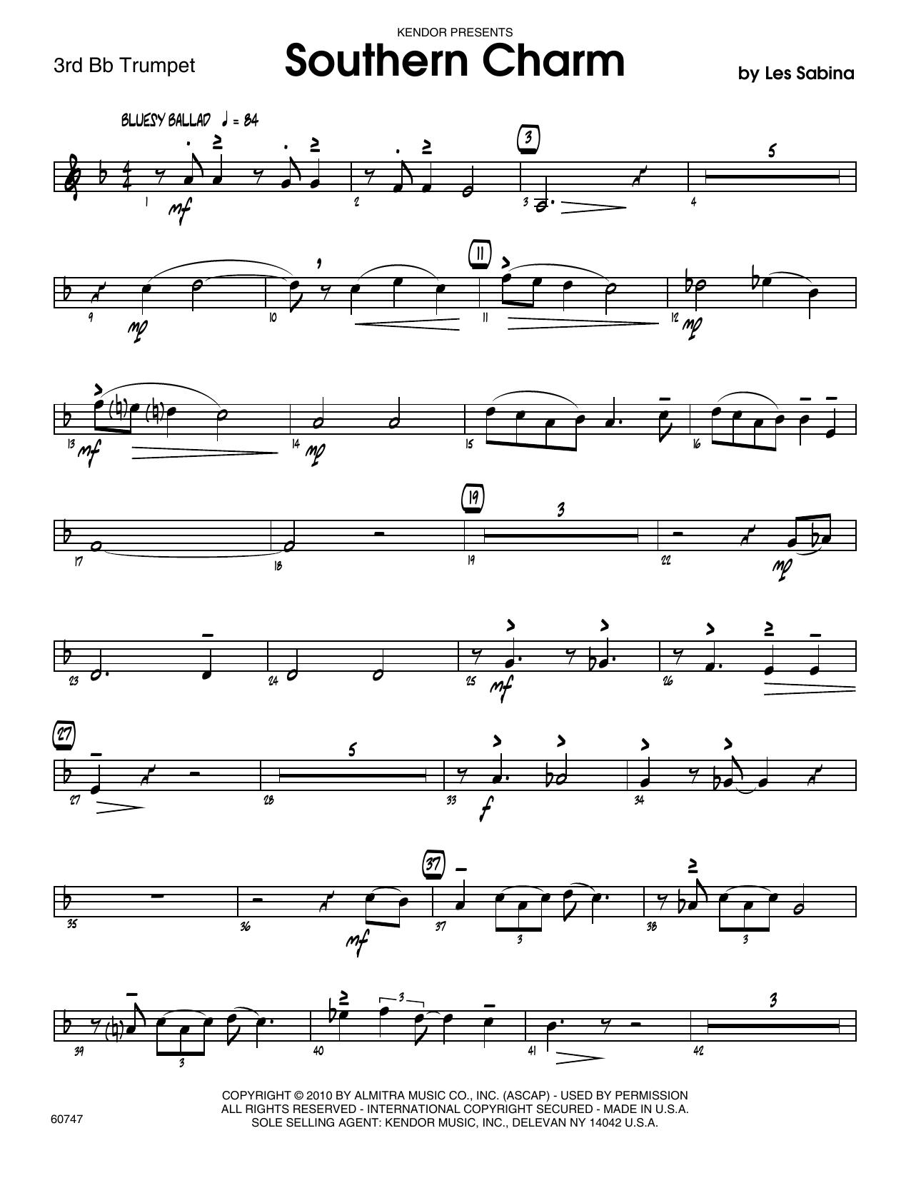 Southern Charm - 3rd Bb Trumpet Sheet Music