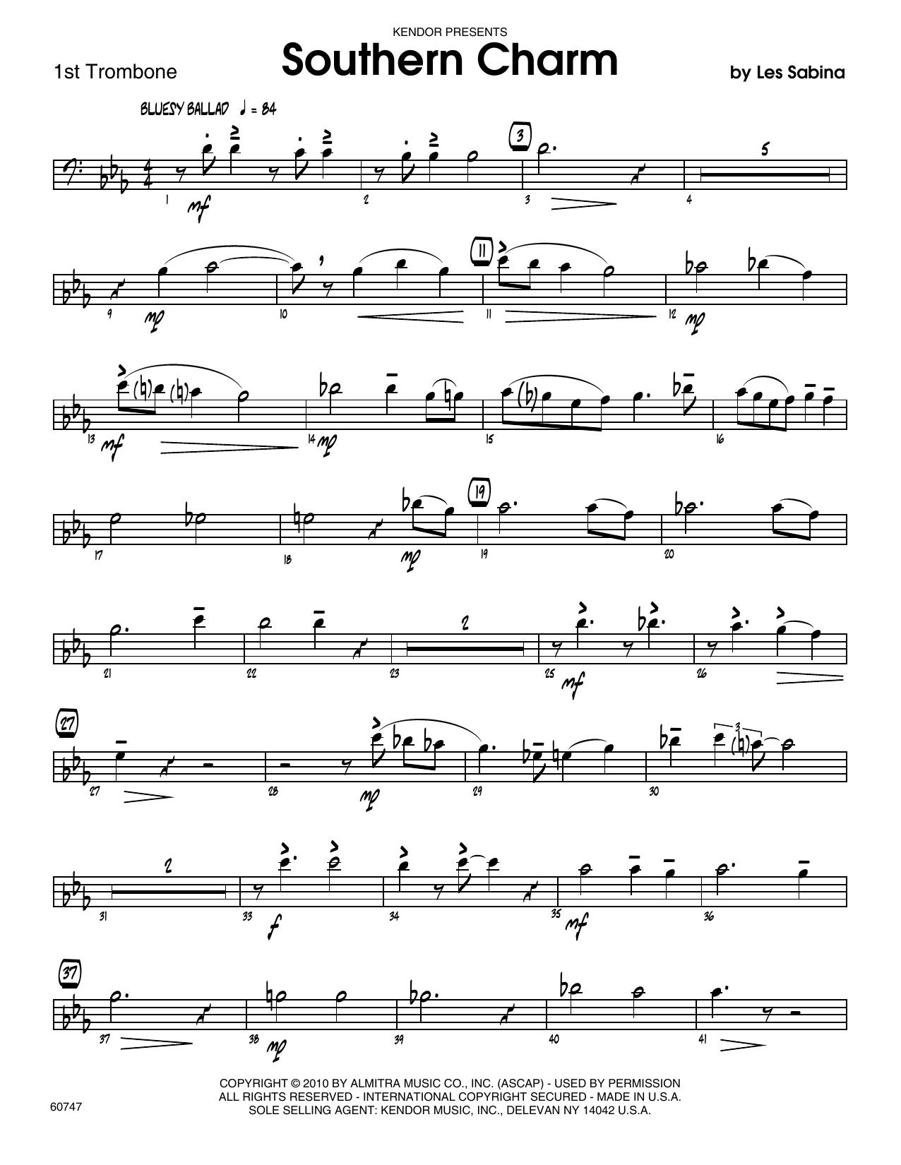 Southern Charm - 1st Trombone Sheet Music
