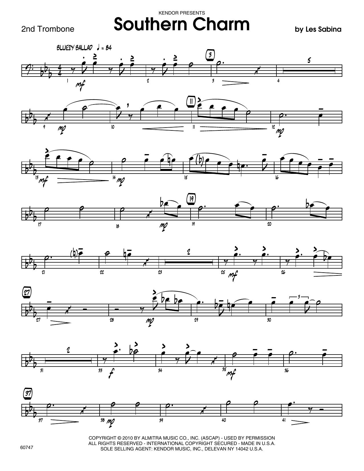Southern Charm - 2nd Trombone Sheet Music