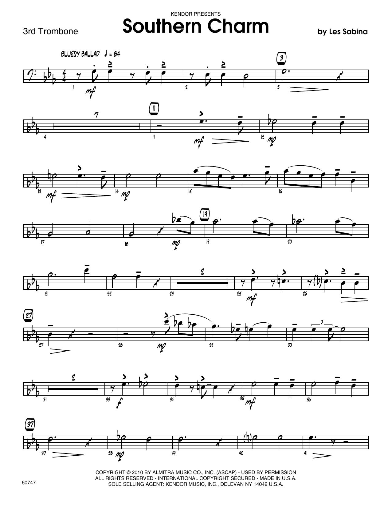 Southern Charm - 3rd Trombone Sheet Music