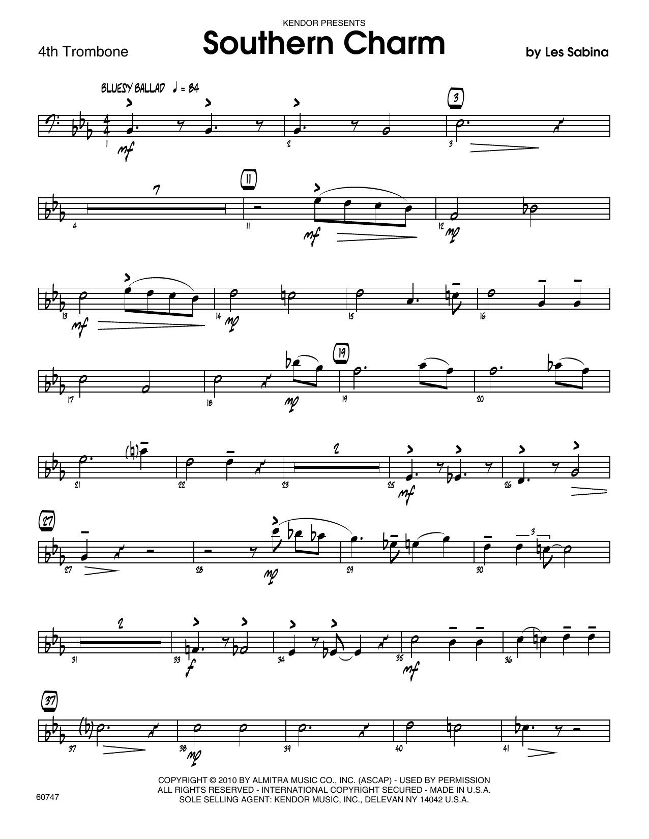 Southern Charm - 4th Trombone Sheet Music