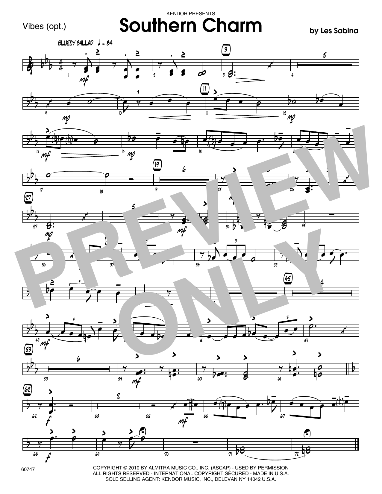 Southern Charm - Vibes Sheet Music
