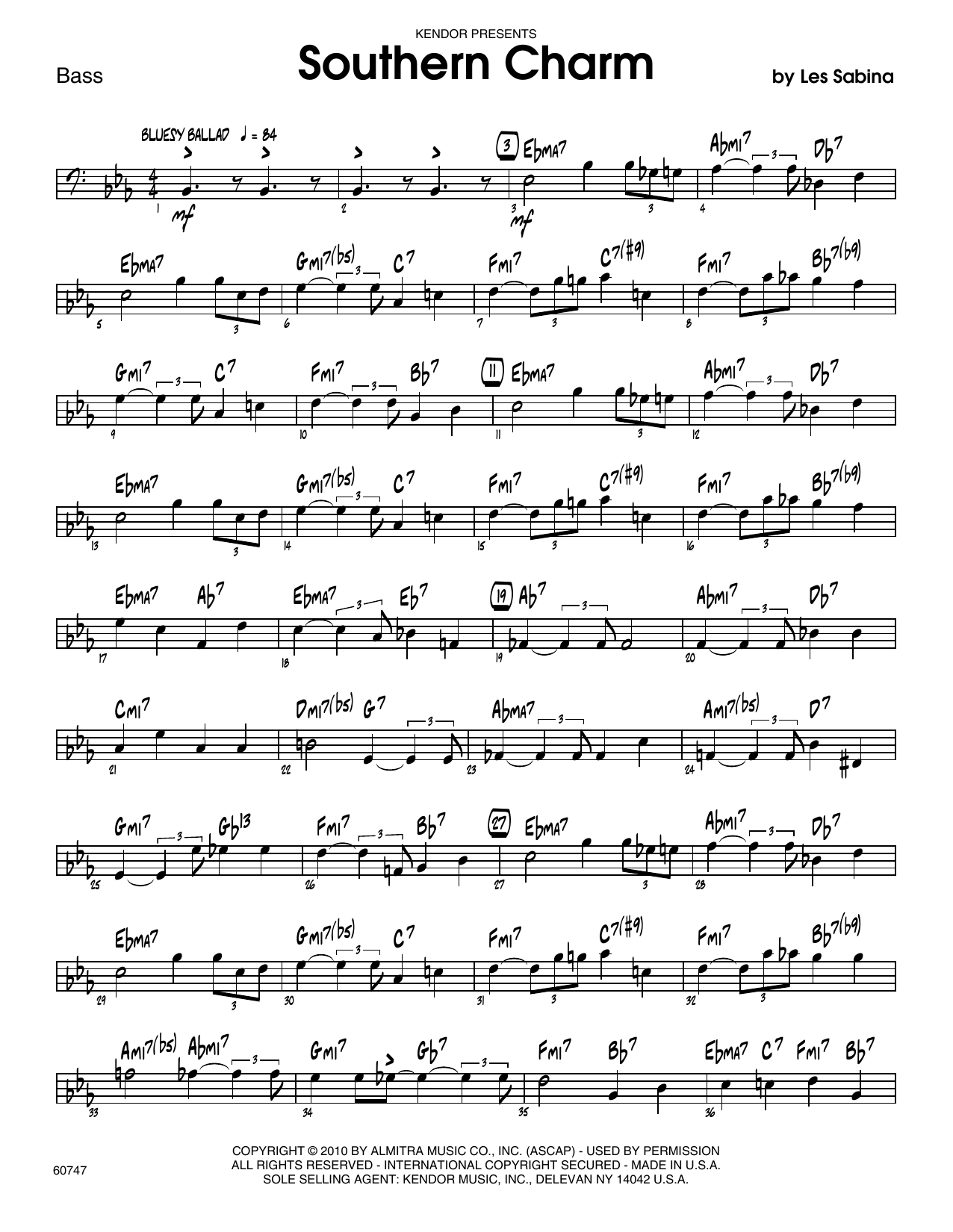 Southern Charm - Bass Sheet Music