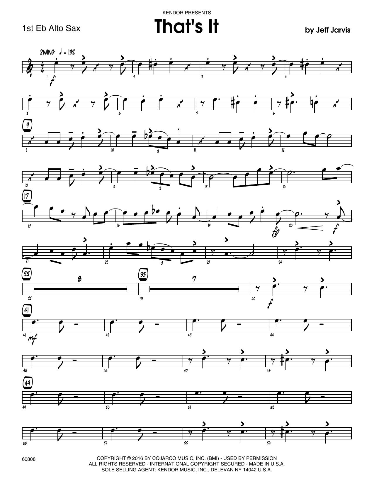 That's It - 1st Eb Alto Saxophone Sheet Music