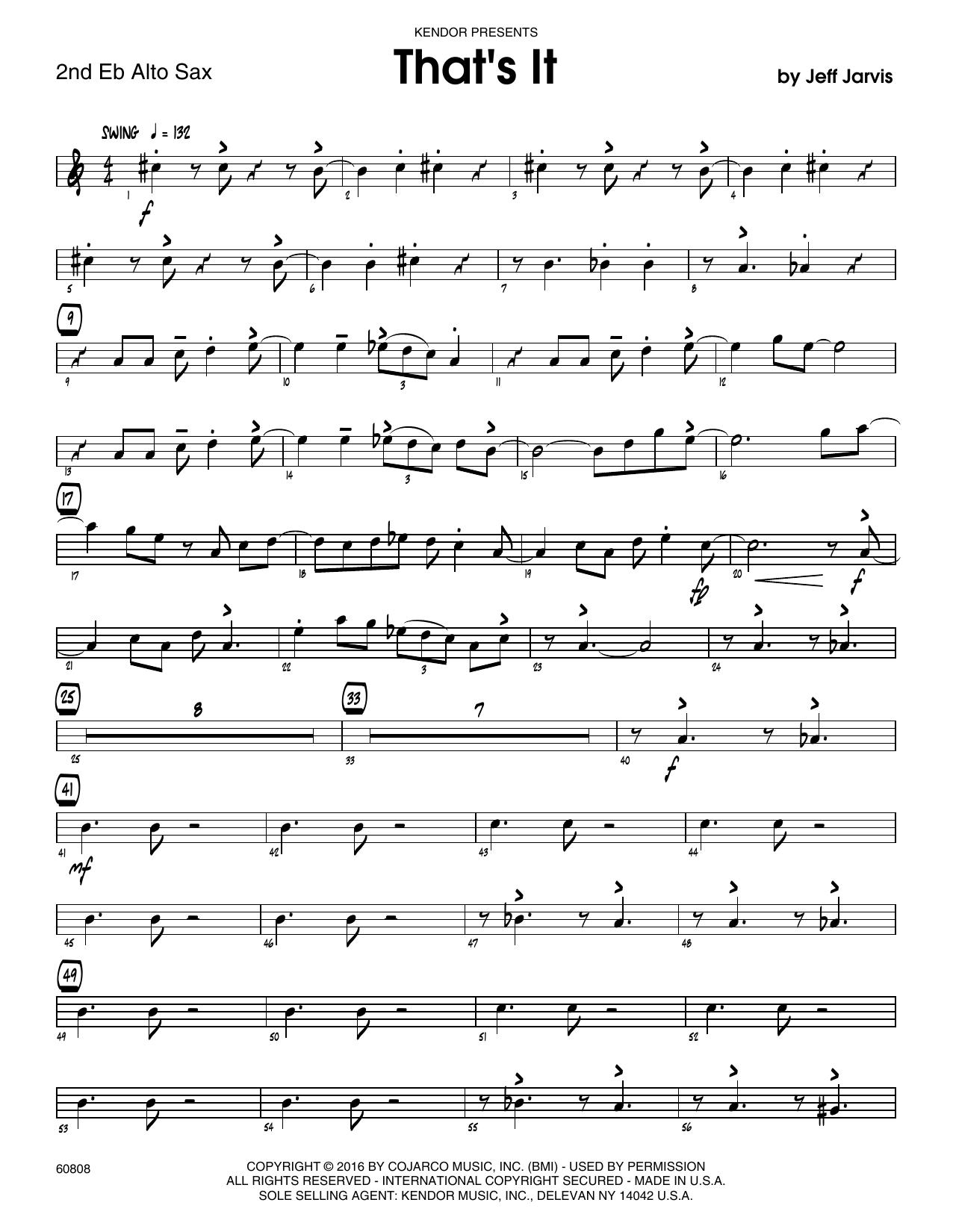 That's It - 2nd Eb Alto Saxophone Sheet Music