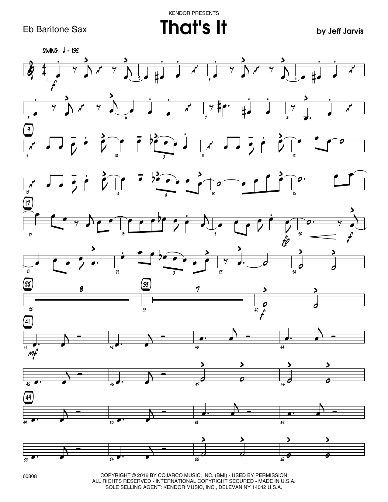 That's It - Eb Baritone Saxophone Sheet Music