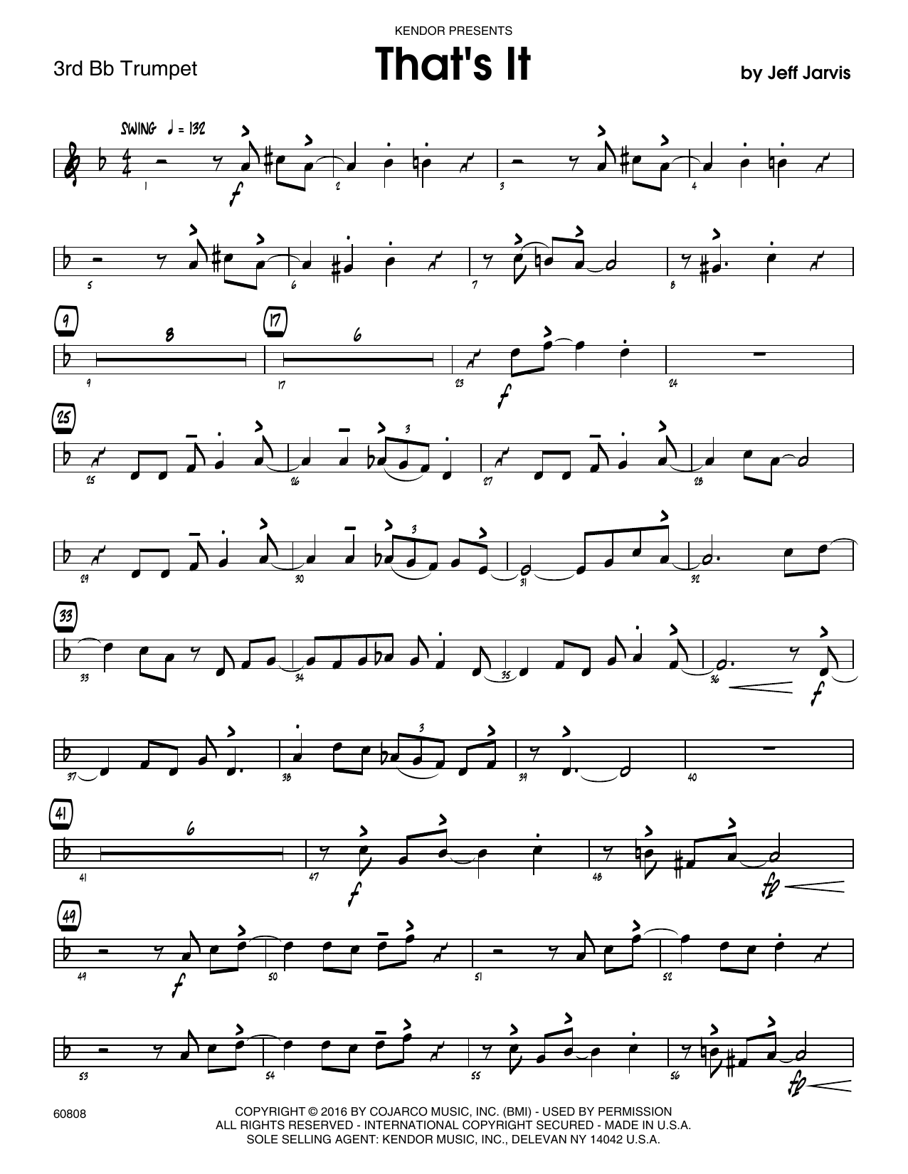 That's It - 3rd Bb Trumpet Sheet Music