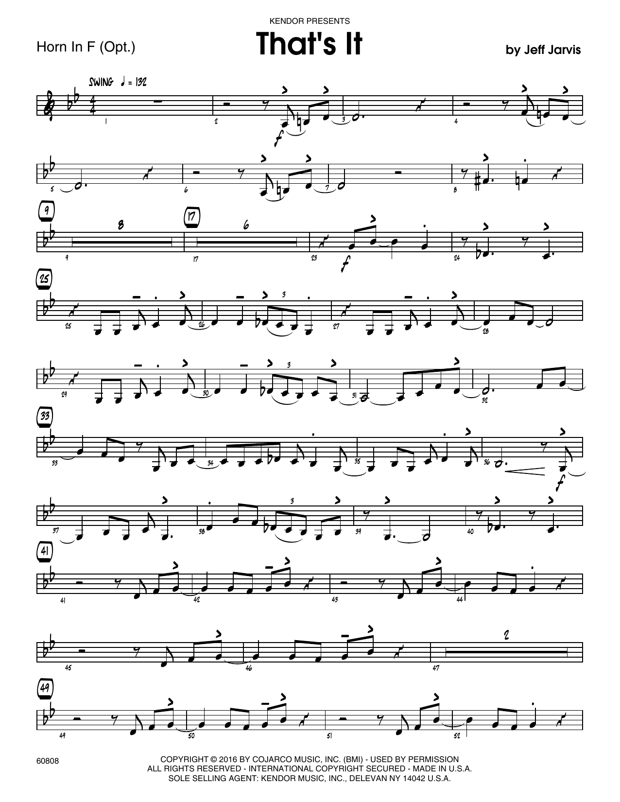 That's It - Horn in F Sheet Music