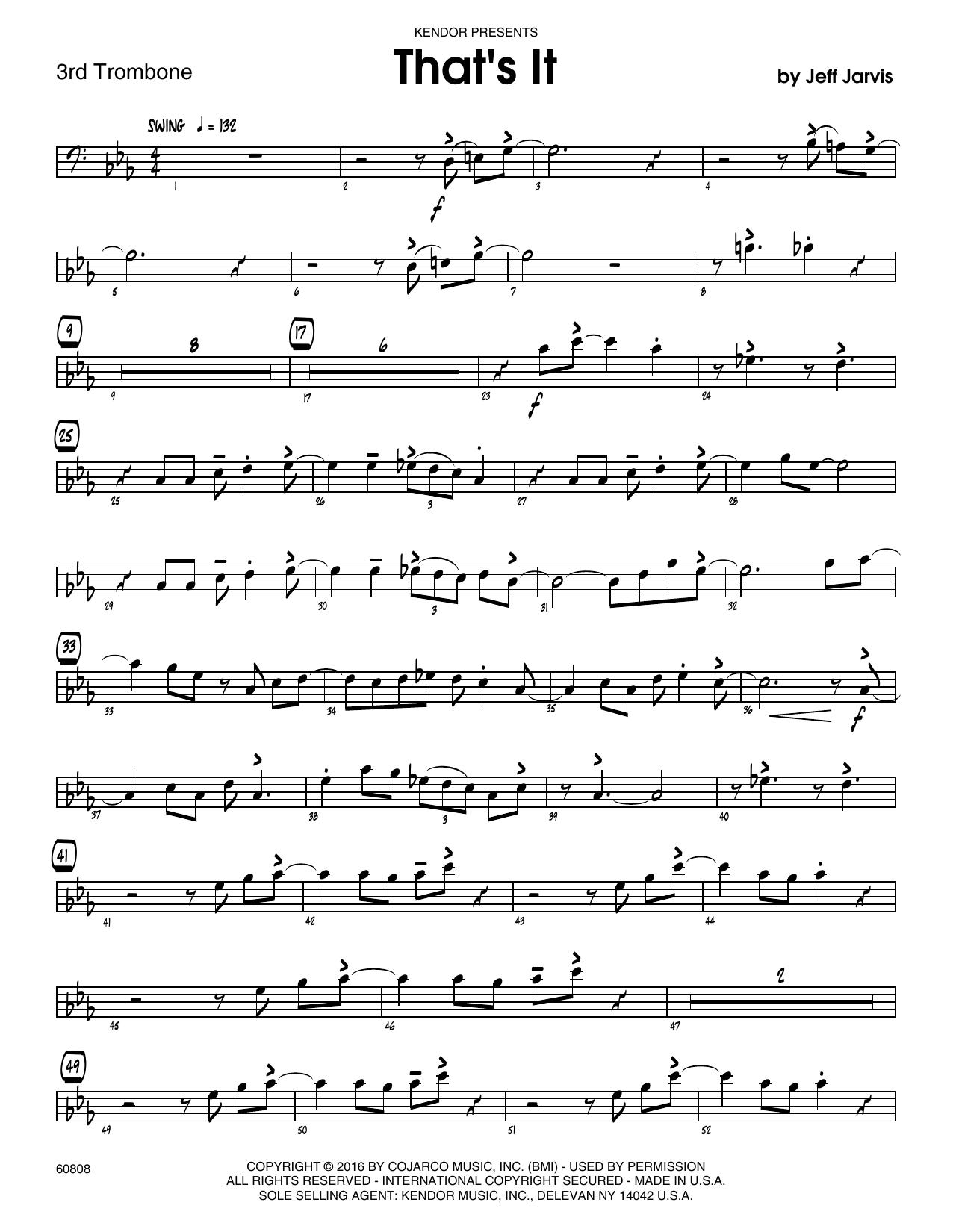 That's It - 3rd Trombone Sheet Music