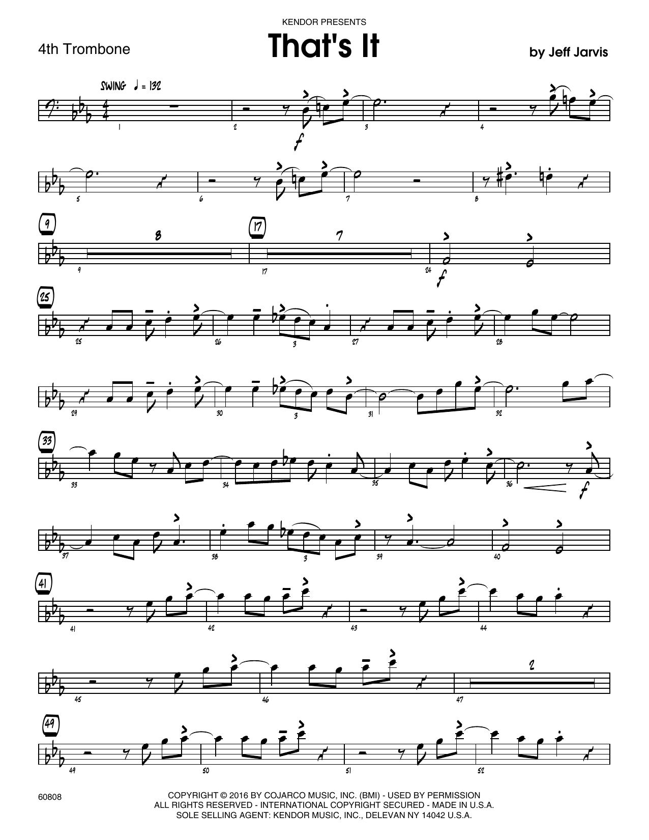 That's It - 4th Trombone Sheet Music