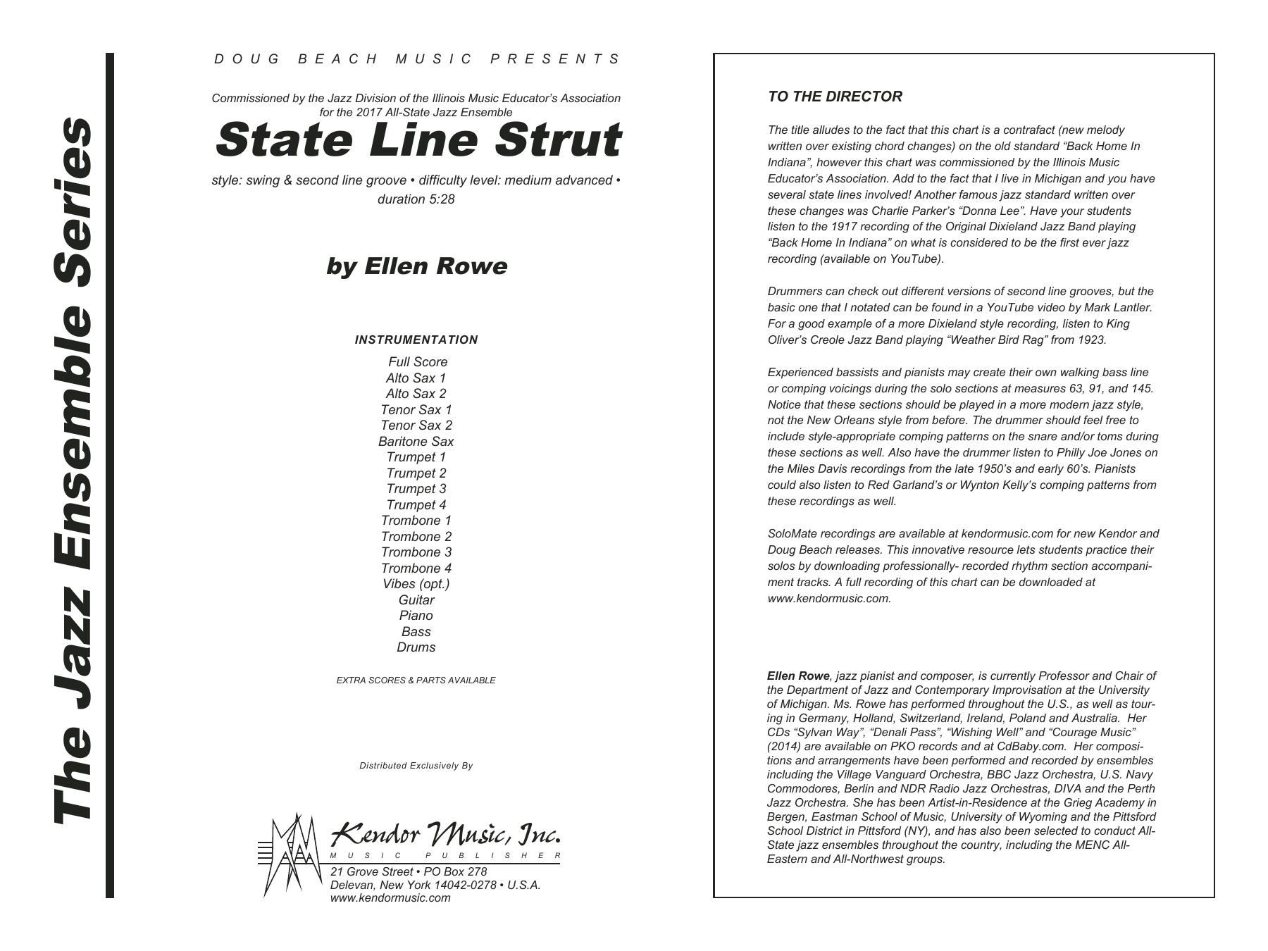 State Line Strut - Full Score Sheet Music